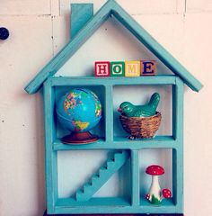 Home Sweet Home... Vintage House Home Cubby Wall by InWithTheOld