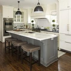 white kitchens with islands - Google Search