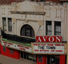 The Avon Theater; since 1916, Decatur IL's legendary (and haunted) independent theater. One of my favorite places to see quality entertainment.