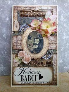 Moje Małe Dzieła: Kartka dla Babci z gardenią.