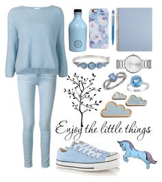 """Baby blue"" by abecic ❤ liked on Polyvore featuring Frame Denim, 3.1 Phillip Lim, Converse, Marc by Marc Jacobs, Kenneth Cole, Isaac Mizrahi, Lord & Taylor, Silken Favours and Caran D'Ache"