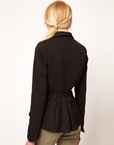 Denham Blazer With Pleated Back Detail $362.15 (This is expensive, but it's also a good use of pleating.)