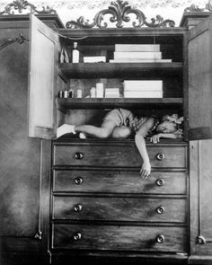 Self Portrait (in cupboard), circa 1932  Photographer: Claude Cahun