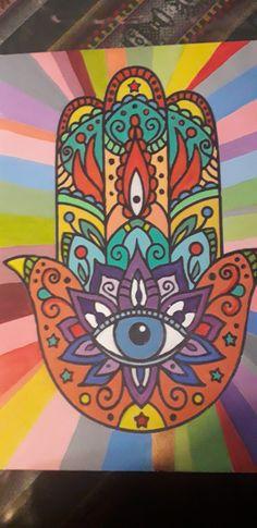 Jewish Art, Bts Pictures, Elsa, Symbols, Painting, Ideas, Buddha Drawing, Hamsa Hand, Fatima Hand