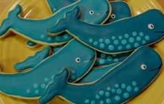 Blue Whale Cookies. Repinned by www.mygrowingtraditions.com