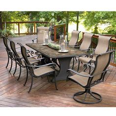Agio Panorama 9 Piece Patio Set: Get Top Entertainment Ideas at Sears