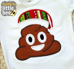 **THIS IS NOT A PATCH, SHIRT, OR A PHYSICAL ITEM.** This is a design to be used with an embroidery machine.  Enjoy this happy little poo applique on anything that needs a little sprucing up for Christmas! Sizes included are 4x4, 5x7, and 6x10 in the following formats: PES, DST, EXP, HUS, JEF, VIP, VP3, and XXX. You may download your embroidery file immediately after your etsy purchase.  Due to the digital nature of embroidery files, NO REFUNDS will be given because you purchased the wrong…