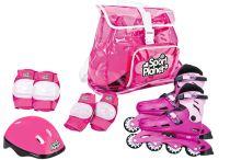 Set Patines en Línea Rosa T.29-32 Baby Car Seats, Children, Pink, Toys, Sports, Young Children, Boys, Kids, Child