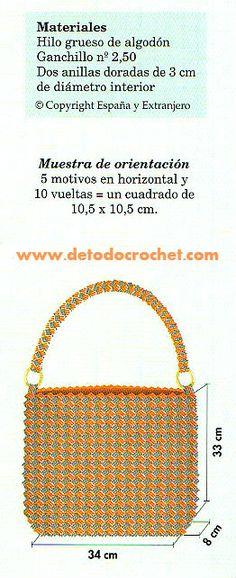 Cómo tejer bolso ganchillo en dos colores