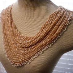 1920s Beaded Cowl Collar Vintage From Dress by SweetRepeatVintage, $14.95