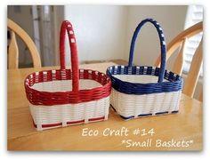 Gift Baskets Eco Craft, Basket Bag, Weaving Patterns, Gift Baskets, Happy, Gifts, Bags, Hampers, Creative