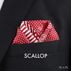 Learn how to fold your pocket square with the scallop fold. A fun and classic look for all types of pocket squares