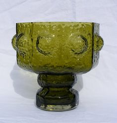 Riihimaki 'Fontana' olive green glass vase by art-of-glass, via Flickr