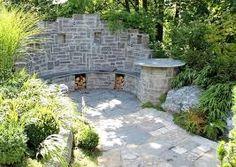 großer #grill im außenbereich mit spülbecken und #sichtschutz, Hause und Garten