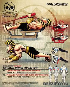 bicep & tricep superset: curls and extensions - ramses