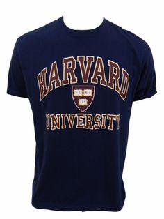 Harvard University Novelty Souvenir Shirt Size L Large Cotton Blue #CottonExchange #GraphicTee
