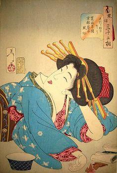 UKIYO - E.......BY TSUKIOKA YOSHITOSHI....PARTAGE OF ARTIST SALON OF JAPAN.....ON FACEBOOK......