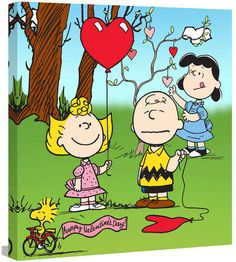 599c1b1f8 Marmont Hill Peanuts Peanuts Valentines by Charles M. Schulz Painting Print  on Wrapped Canvas Sally