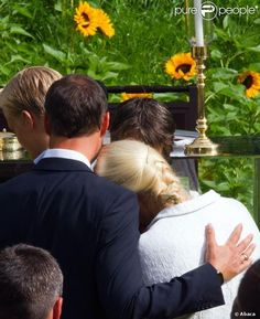 Members of the Norwegian Royal Family  attend an outdoor church service in the the Queen's Park on the occasion of the Crown Princess Mette Marit 40th birthday
