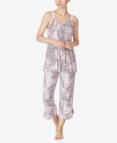 Ellen Tracy Plus Bouquet Border Pajama Pants Set