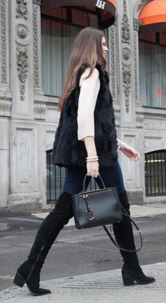 Fendi small 2 Jours bag in black. A beautiful pre-owned purse available at www.lovethatbag.ca