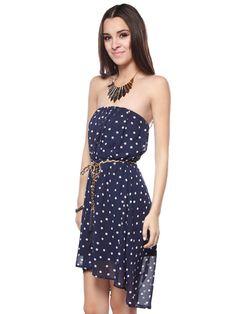 623d5823a15e Papaya Clothing Online    DOTTED TUBE DRESS W  BELT- Cute for juniors