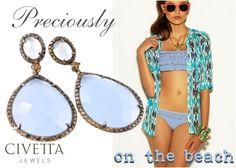 Do you like #jewels on bikini? If so, here an idea to make your #beach style sparkling! Iris Blu http://www.civettajewels.it/store/it/home/84-orecchini-iris-in-argento-e-calcedonio-ultima-edizione-.html#