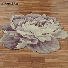 Sophia Purple Flower Shaped Rug