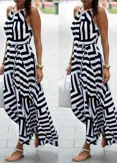 Striped Maxi Beach Dress - S / Stripes Boho Summer Dresses, Summer Dresses For Women, Boho Dress, Casual Dresses, Maxi Shirt Dress, Striped Maxi Dresses, Floral Maxi, Beachwear For Women, Fashion Outfits