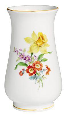 "Vase, Vintage Flowerpinting 3, Lent lily, Shape ""Neuer Ausschnitt"", H 10 cm"
