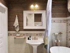 ну вот примерно на этом уровне вагонка и на потолке, т.е самое мокрое - белый кафель.... Очень жду ответа. Спасибо. Diy Shower, Shower Floor, Rustic Modern Cabin, Bath Shower Combination, Large Tub, Best Bath, Small Rooms, Room Interior, Bad