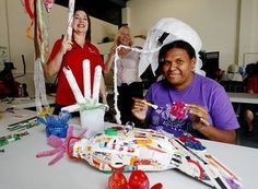 We work with community and community groups to help spread the contagion of recycling household waste to craft.