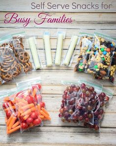 Self Serve Snacks for Busy Families- great way to teach independence and make su.,Healthy, Many of these healthy H E A L T H Y . Self Serve Snacks for Busy Families- great way to teach independence and make sure your kids reach for healthy f. Road Trip Snacks, Lunch Snacks, Road Trips, Fruit Snacks, Healthy Snacks For Kids, Easy Snacks, Healthy Snacks For Traveling, Snacks For Beach, Healthy Classroom Snacks
