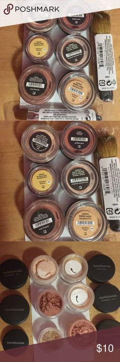 BareMinerals Various Makeup Haven't used any of it. Some have rolled around in my makeup bin making them a little messy when opened. Various all over the face makeup and concealers. 2 brushes- concealer and all over the face application unopened. $10 each or all 8 pieces for $60 Makeup