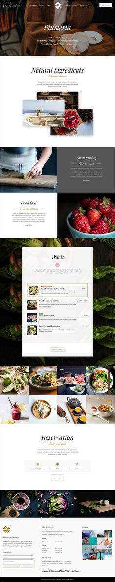 Plumeria is clean and modern design 6in1 responsive #WordPress theme for delicious #food, #cafe bistro and fine dining #restaurants website to live preview & download click on Visit
