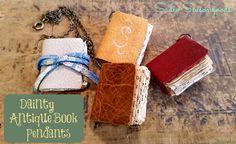 How Booking Cute!: Miniature Book Pendants