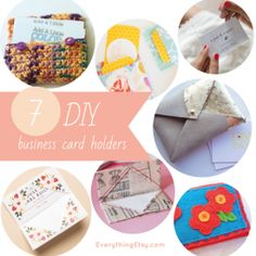 7 DIY Business Card Holders
