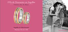 Súper Promoción ♥♥♥  Ultimo dia  25% de Descuento en Argollas, ven visítanos y aparta con $1,000 pesos. Valido del 27 al 30 de Mayo... Argollas de Matrimonio Oro & Platino #mayo #eshoradecompartir #momentos #domingo #yonovia #joyería #amor #tbt #compromiso  #argollasdematrimonio #amor