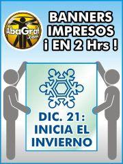 2 horas solamente para la impresion de tus banners! En AbaGraf.com en Monterrey, Mexico