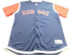 Boston Red Sox Mens Jersey Size Large L MLB Baseball Genuine Merchandise Shirt #MLBLicensedApparel #BostonRedSoxs