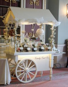 New ideas vintage wedding candy bar beautiful Dessert Buffet, Candy Buffet, Dessert Tables, Candy Cart Hire, Bar Deco, Sweet Carts, Sweet Cart Hire, Candy Bar Wedding, Diy Wedding