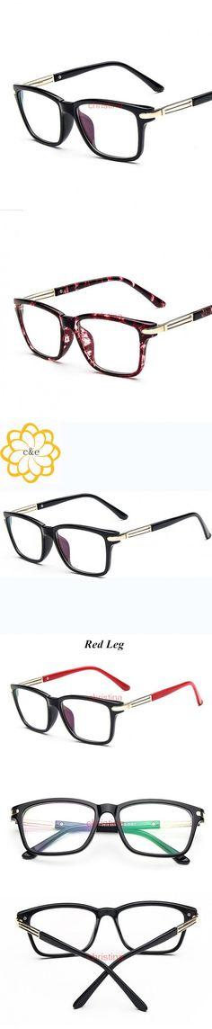 1e9965797 Fashion Eyeglasses For Women Clear Lens Plain prescription Eyewear Glasses  Square Frame Lentes Opticos oculos de grau femininos