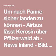 Um nach Panne sicher landen zu können - Airbus lässt Kerosin über Pfälzerwald ab  -  News Inland -  Bild.de