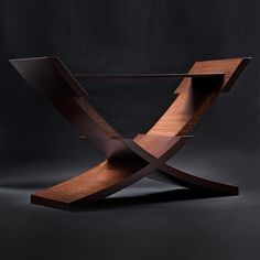 Equilibrium Console by Voi Artis Pin by Karla Clift Furniture Projects, Table Furniture, Wood Projects, Modern Furniture, Furniture Design, Organic Lines, Occasional Tables, Settees, Woodworking Workshop