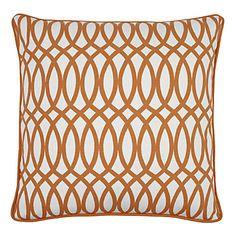 Upbeat Sunset Orange Geo pillow