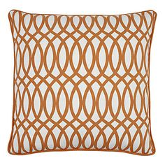 orange graphic pillow