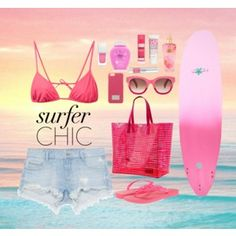 Surfer chic pinky girl