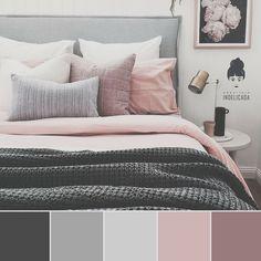 Home Bedroom Mattress Bedding Color scheme Bed frame Bed sheet Pink Bedroom Colour Palette, Bedroom Color Schemes, Bedroom Colors, Master Bedroom Color Ideas, Room Ideas Bedroom, Dream Bedroom, Home Decor Bedroom, Mauve Bedroom, My New Room