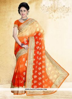Shop Thrilling Viscos Designer Lehenga In Orange Colour ‪#‎designerfashion‬ ‪#‎outfit‬ ‪#‎onlineshopping‬
