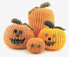 Pumpkin Patch made with the Knifty Knitter Looms